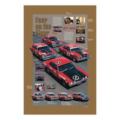 Phase 1,2,3 & 4 GTHO racers large size poster.