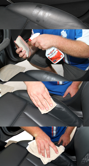 how to safely remove sunscreen from your cars leather. Black Bedroom Furniture Sets. Home Design Ideas