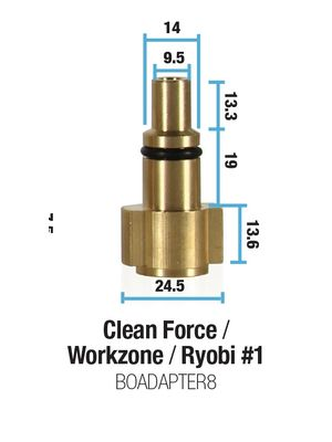 BOADAPTER8 - Clean Force/Workzone/Lavor/Ryobi 1 adapter