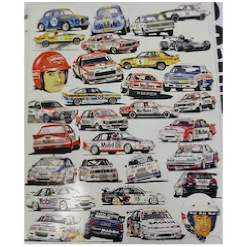 Original Peter Brock poster, 1967 to 1997